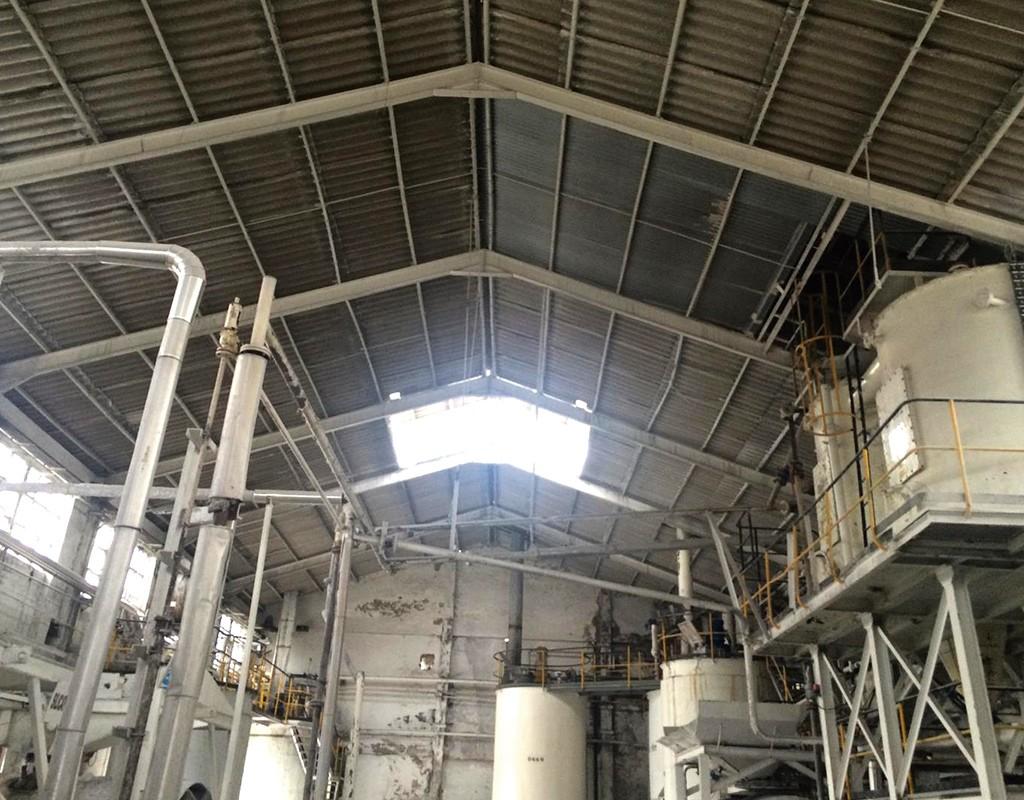 Interior de planta química